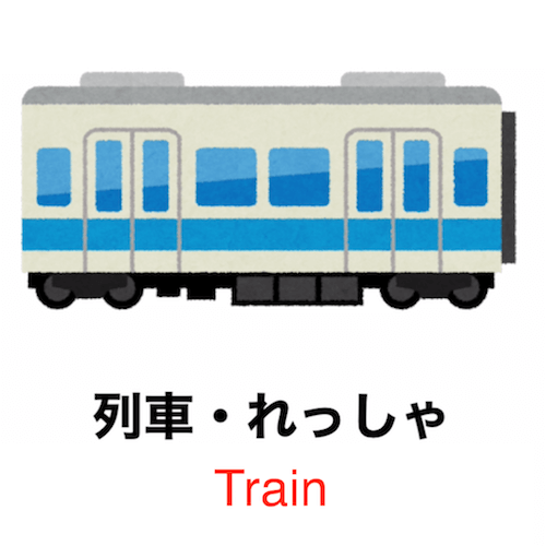 90 seconds to learn Japanese vocabulary - Theme: Train!