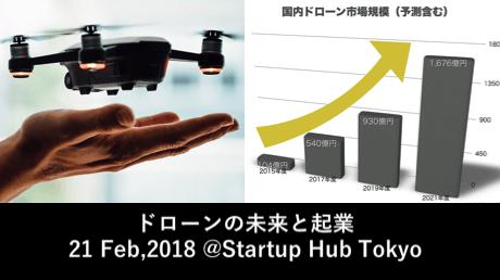 【2018年2月21日開催】ドローンの未来と起業 - @Startup Hub Tokyo