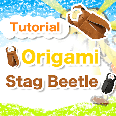 90 seconds to learn Origami Kuwagata (Stag Beetle) Tutorial