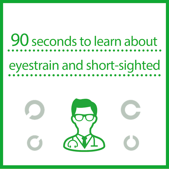 90 seconds to learn about eyestrain and short-sighted