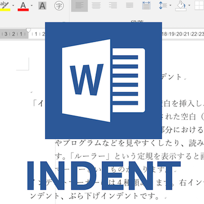 Word indent square
