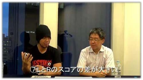 LとRのスコア差が大きいことについて濱崎潤之輔が語る