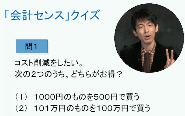 山田真哉のオンライン会計講座のクイズのサンプル
