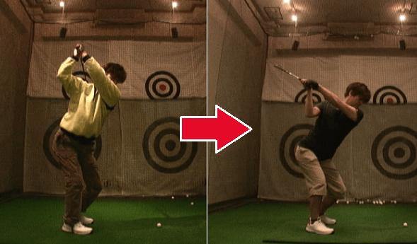 1軸左肩打法ゴルフ講座実例2