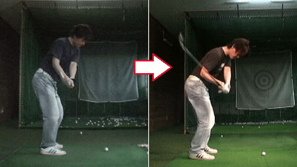 1軸左肩打法ゴルフ講座実例3