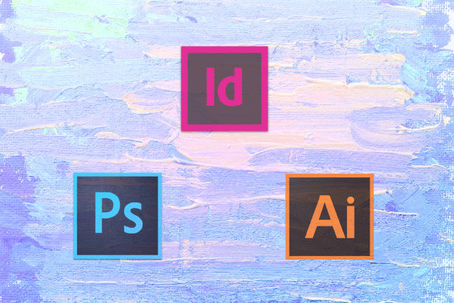 Photoshop、Illustrator、InDesignの3つのロゴが並んだ画像