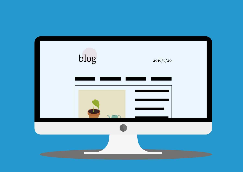 企業ブログのイラスト