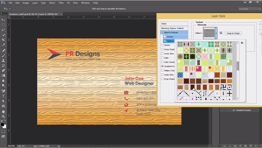 Learn Designing Business Cards in Photoshop with 10 Projects