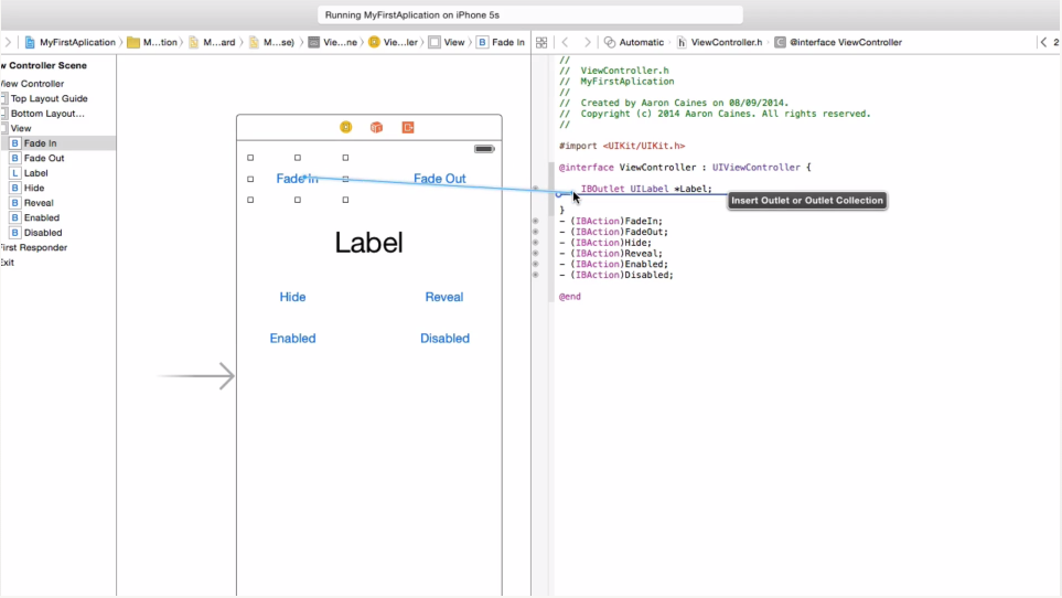 A screenshot image of the online course titled The Complete Objective-C Guide for iOS 8 and Xcode 6