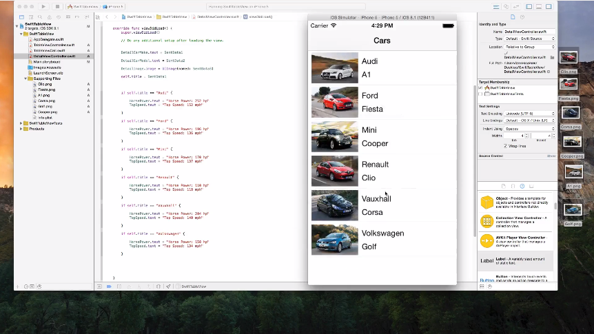 A screenshot image of the online course of The Complete Swift Guide for iOS 8 and Xcode 6