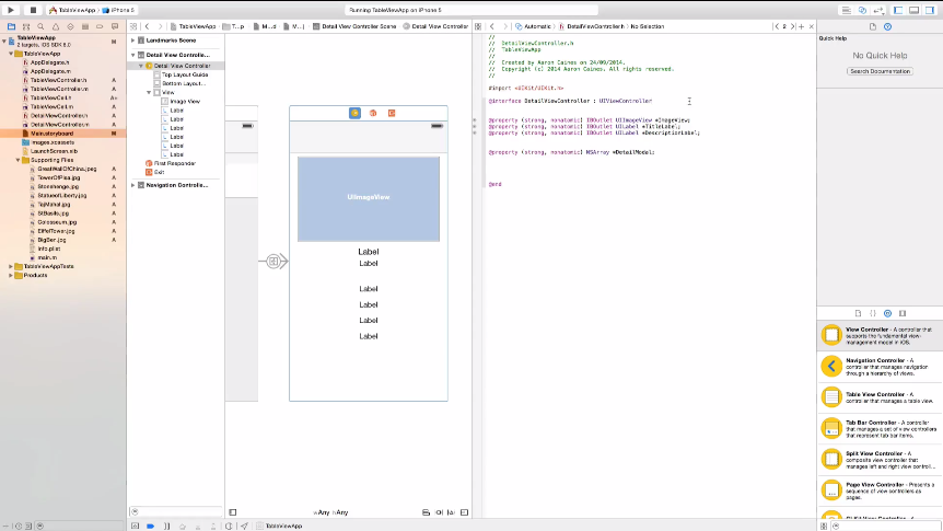 A screenshot image of the online course of Complete iOS 8 and Xcode 6 Guide - Make iPhone & iPad Apps