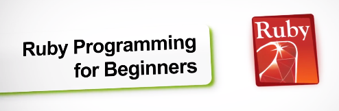 A banner image saying Ruby Programming for Beginners