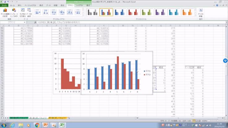 Excelだけを使うオンライン統計学のサンプル